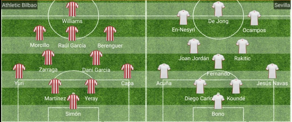 alineacion athletic sevilla